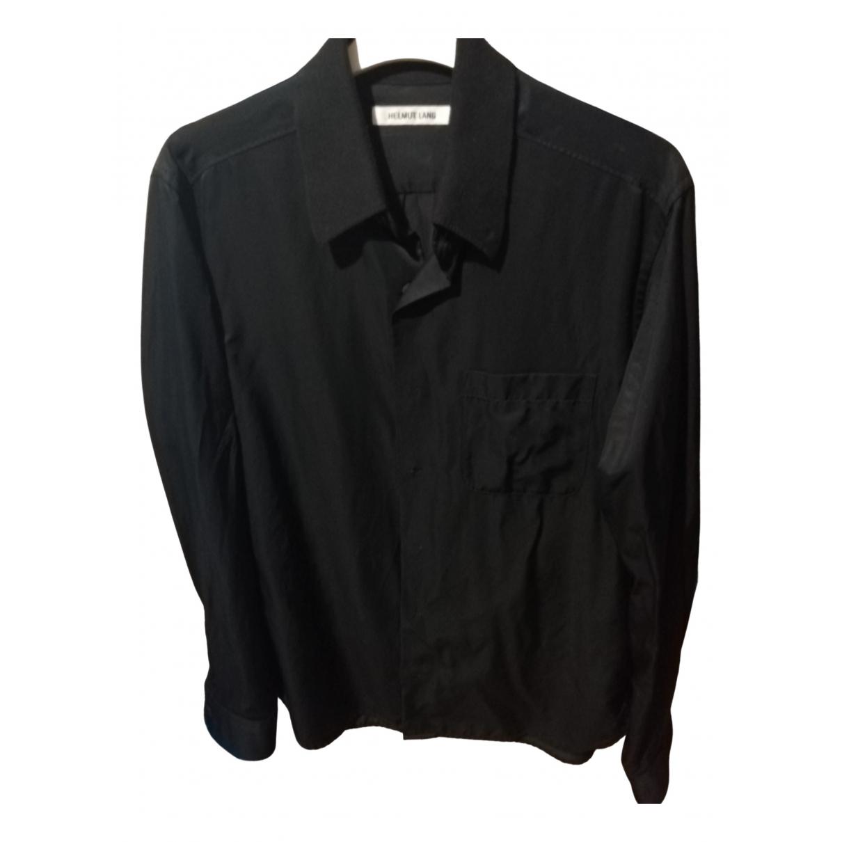 Helmut Lang - Chemises   pour homme en coton - noir