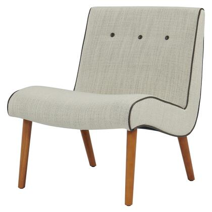 Alexis Collection 353031-108 Chair with Solid Birch Wood Legs  Button Tufting and Fabric Upholstery in