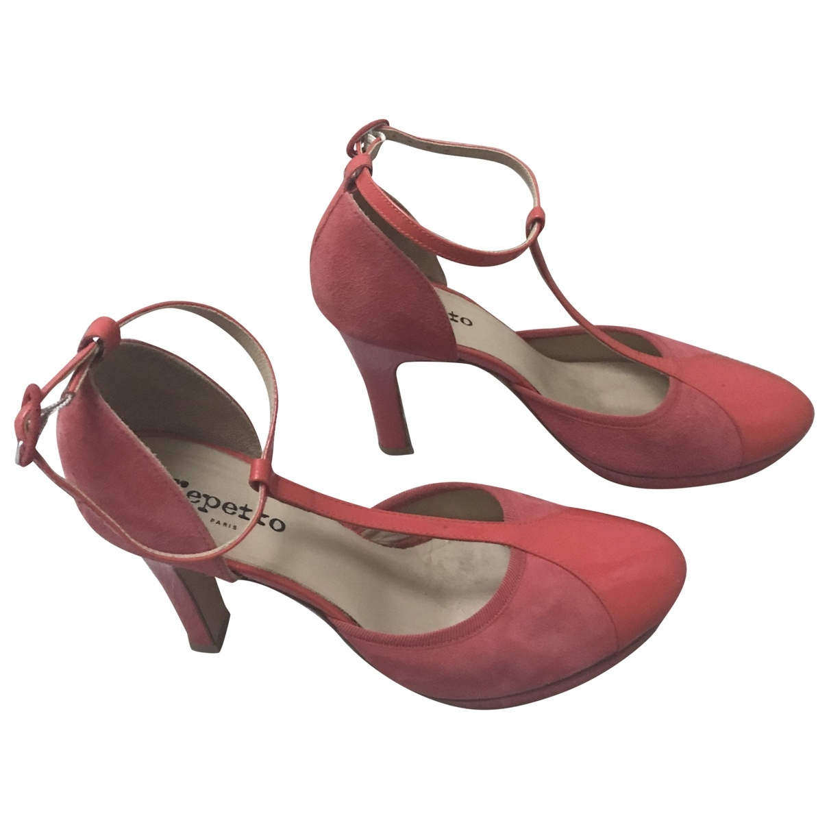 Repetto \N Red Velvet Heels for Women 40 EU