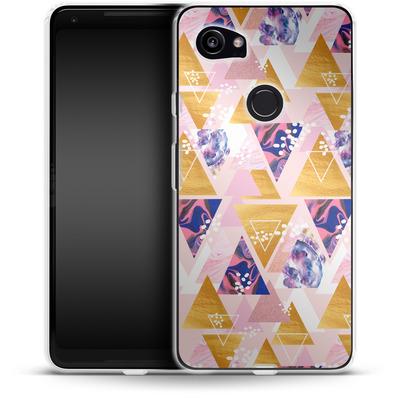 Google Pixel 2 XL Silikon Handyhuelle - Blush GEO von Mukta Lata Barua