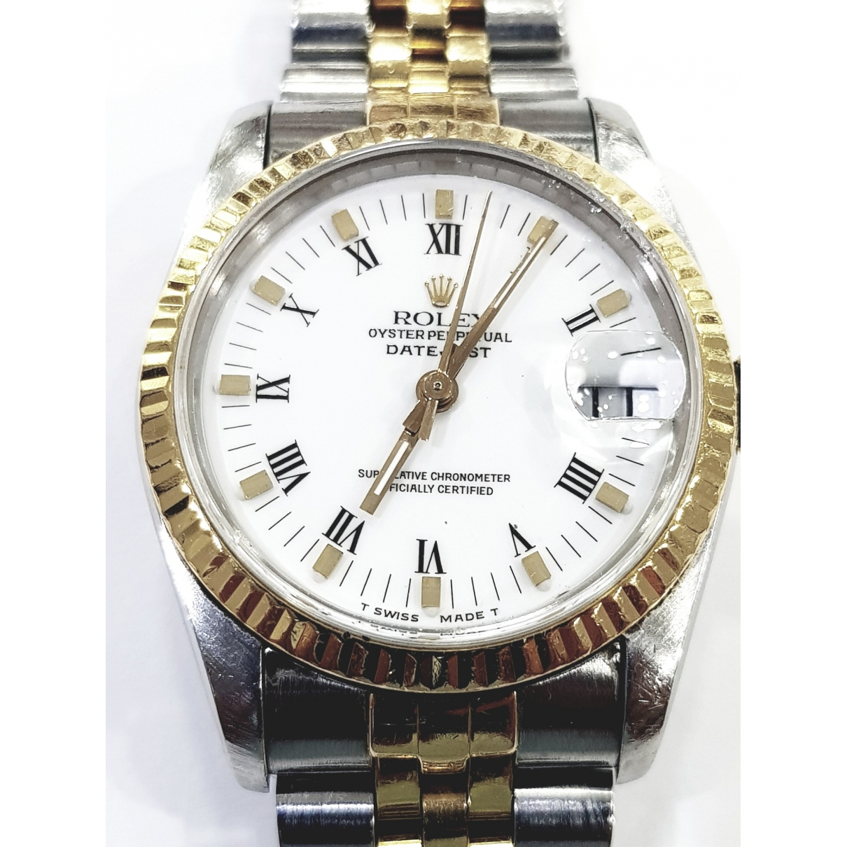 Rolex Oyster Perpetual 31mm White gold and steel watch for Women \N