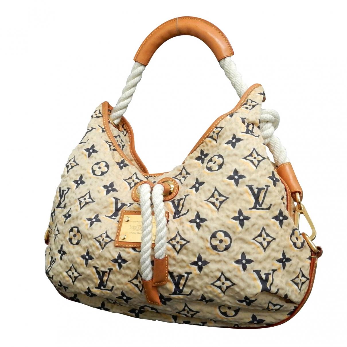 Louis Vuitton - Sac a main   pour femme en coton - camel