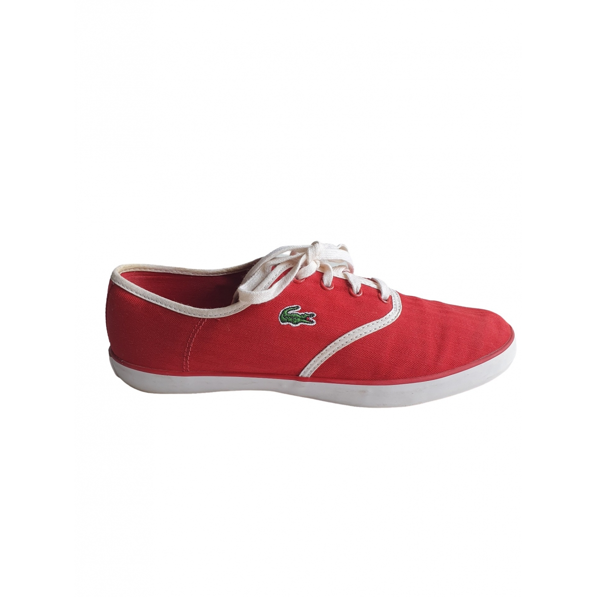 Lacoste \N Red Cloth Trainers for Women 40 EU