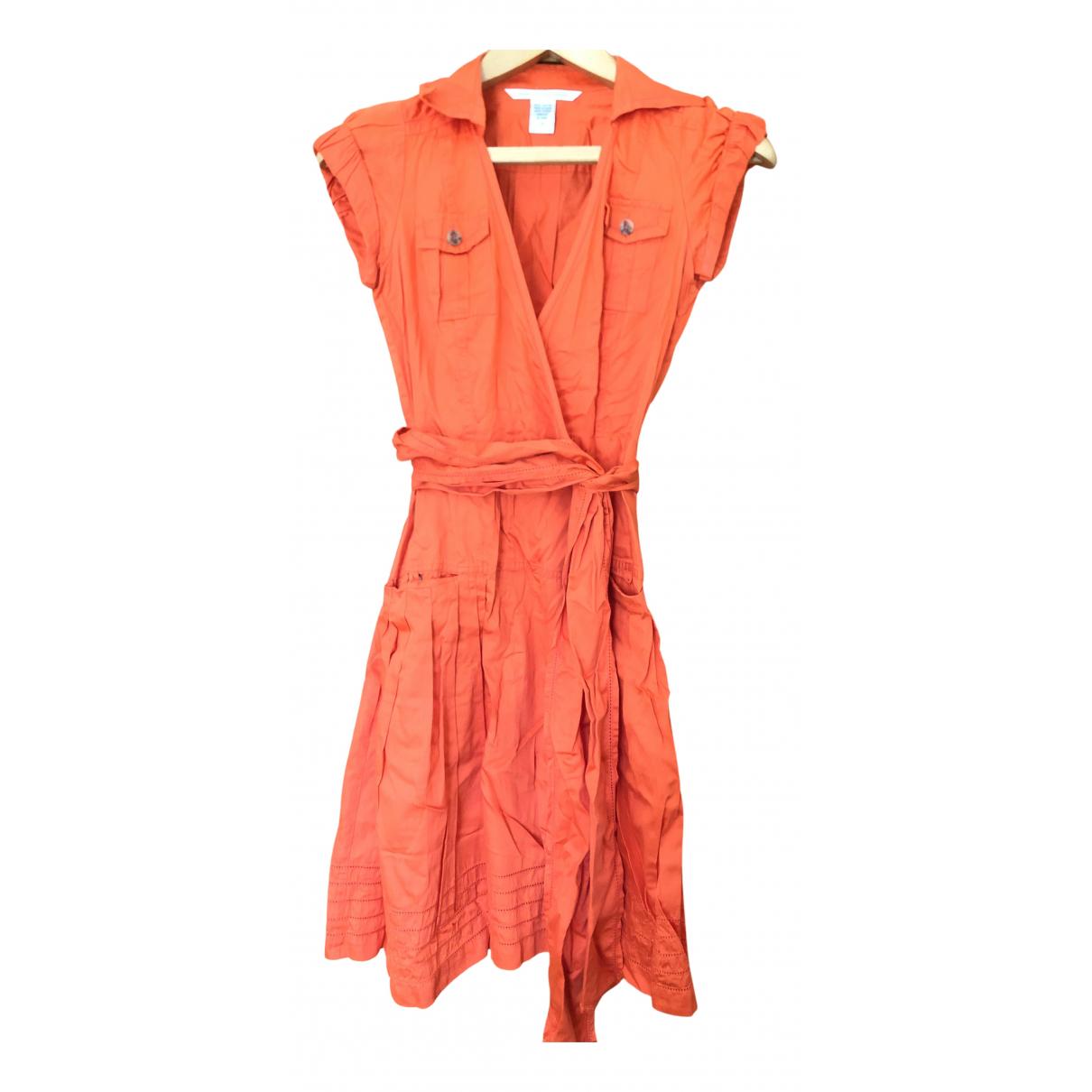 Diane Von Furstenberg \N Kleid in  Orange Baumwolle
