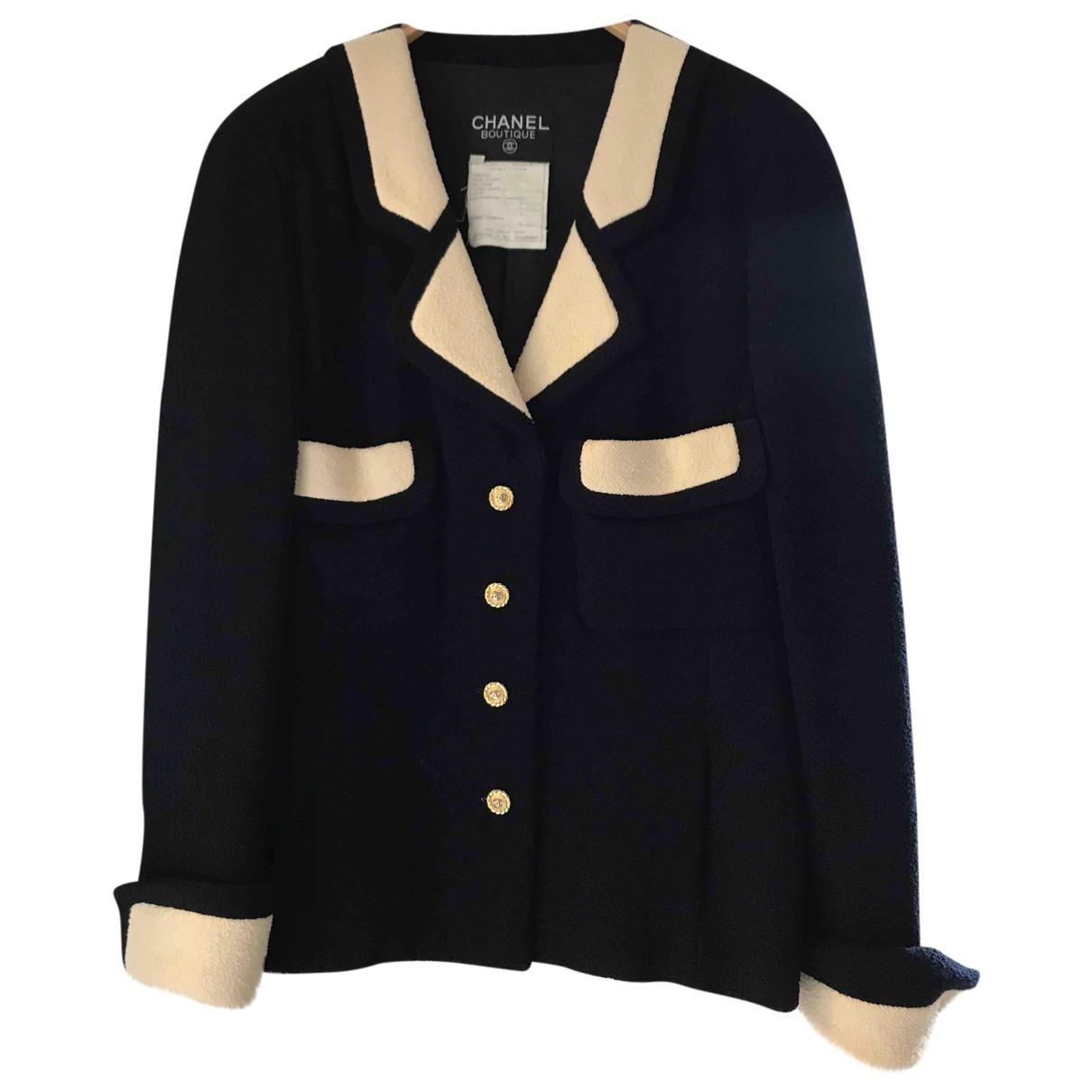 Chanel \N Blue Wool jacket for Women 38 FR
