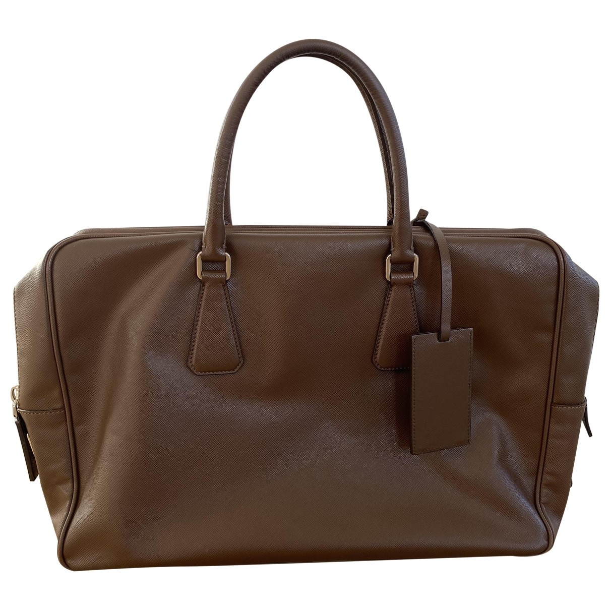 Prada \N Brown Leather bag for Men \N