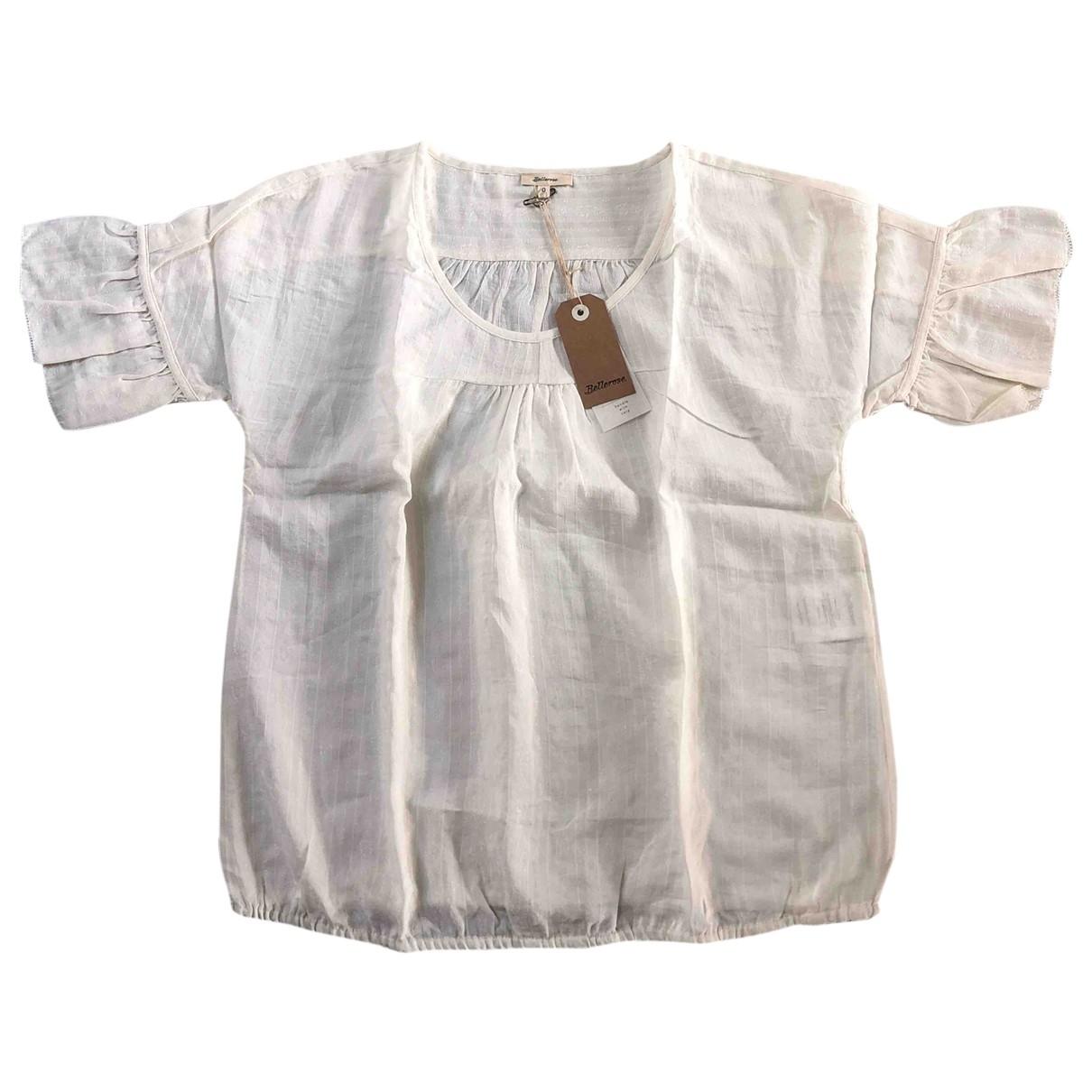 Bellerose - Top   pour femme en coton - ecru