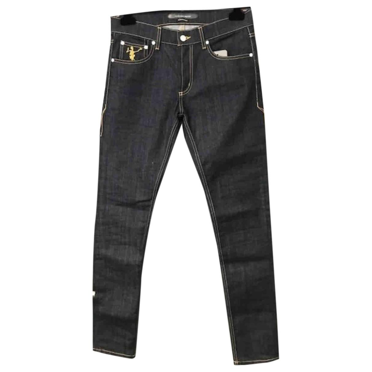 Alexander Mcqueen \N Navy Cotton - elasthane Jeans for Men 36 US