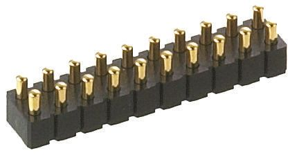 Preci-Dip , 20 Way, 2 Row, Straight Spring Loaded Connector