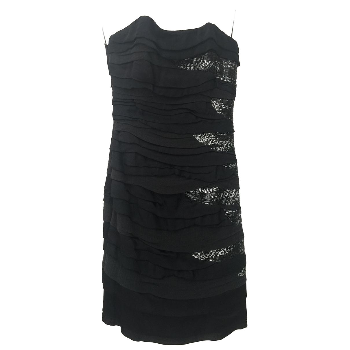 Jay Ahr \N Kleid in  Schwarz Seide