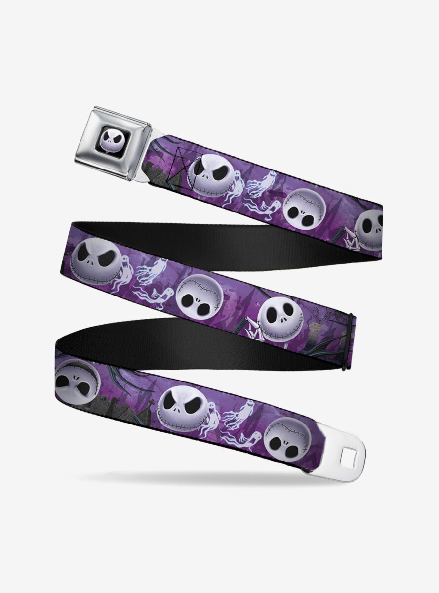 The Nightmare Before Christmas Jack Expressions Ghosts In Cemetery Seatbelt Belt