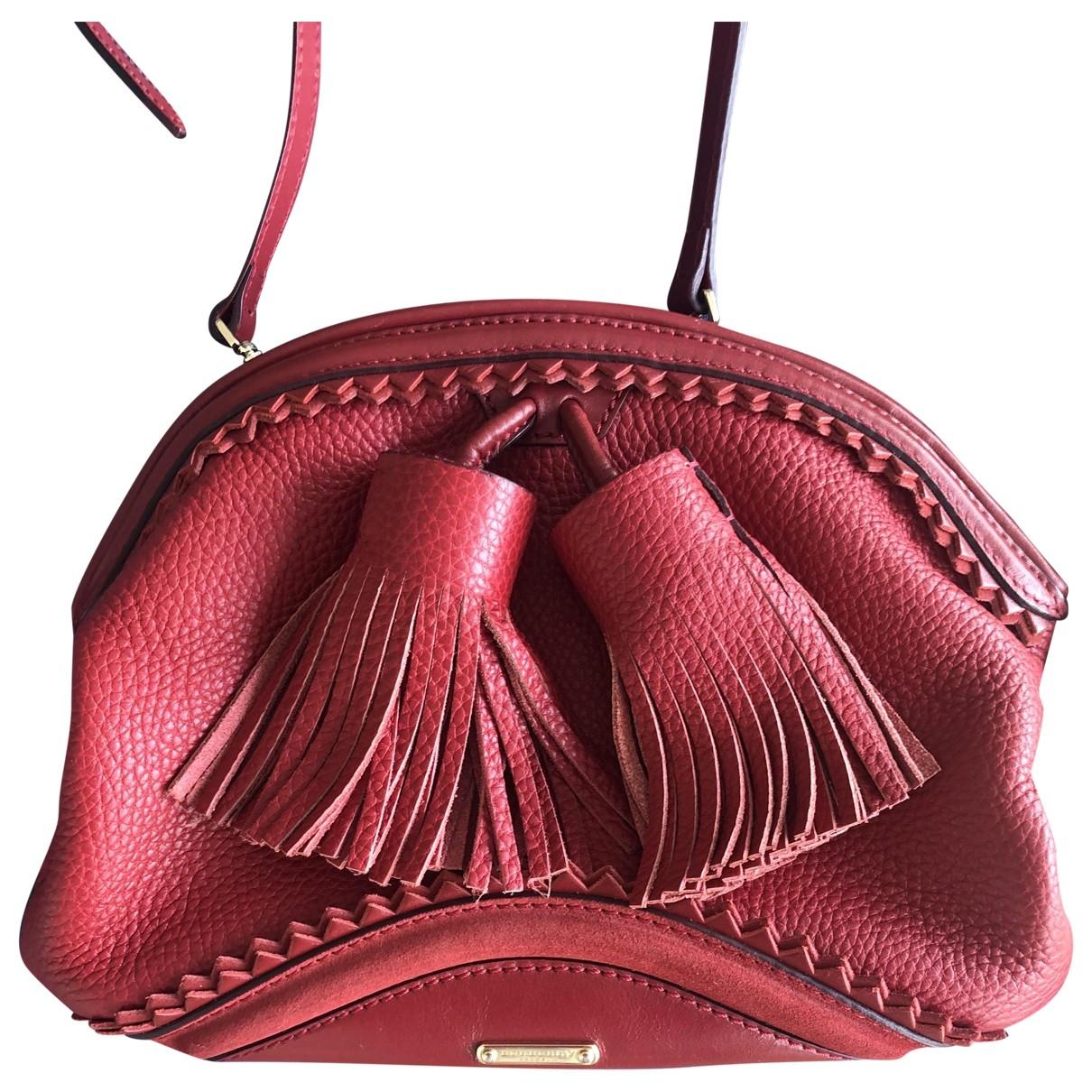 Burberry \N Burgundy Leather handbag for Women \N