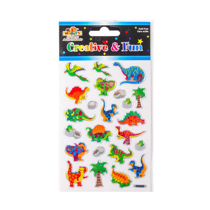 Dinosaurs Self-Adhesive Crystal Foil Stickers for Arts & Crafts, 4