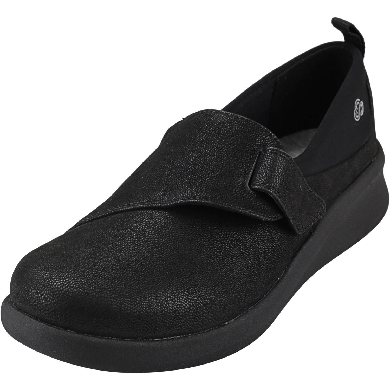 Clarks Women's Sillian 2.0 Ease Nubuck Black Ankle-High Leather Flat Shoe - 5M