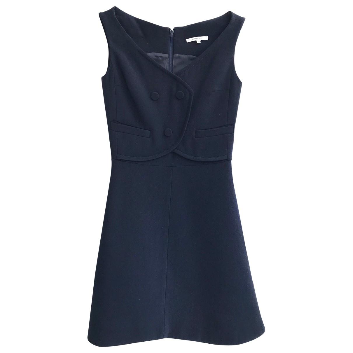 Carven \N Kleid in  Marine Wolle