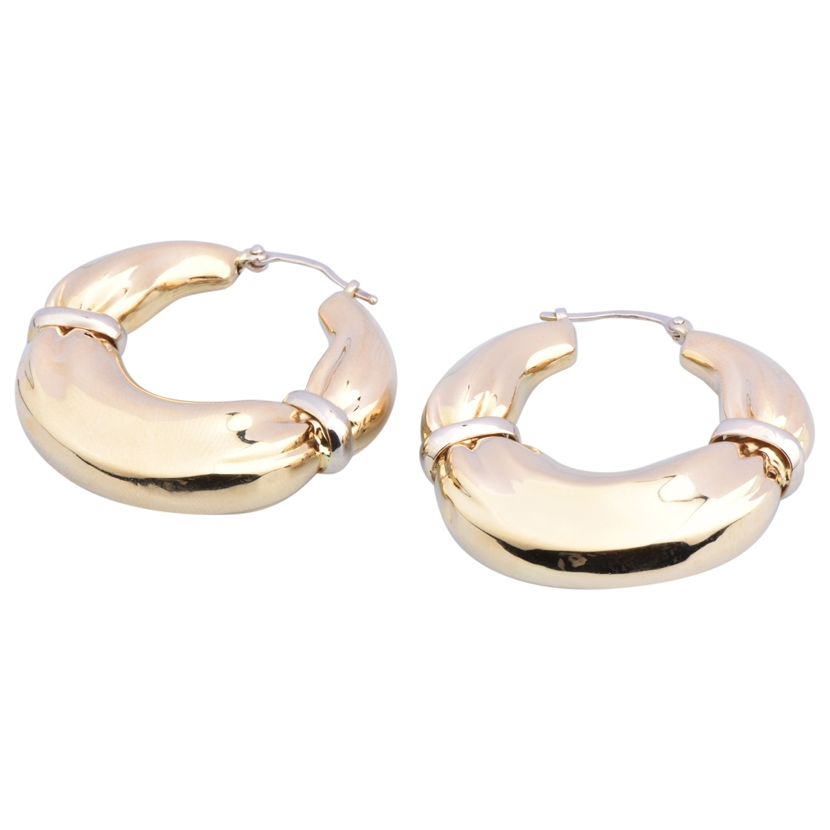 Non Signé / Unsigned Créoles Yellow Yellow gold Earrings for Women \N
