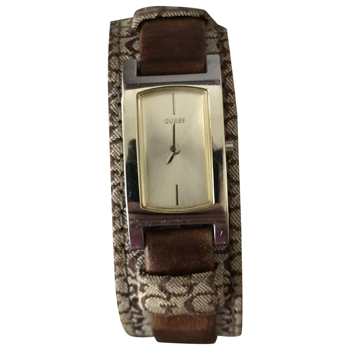Guess \N Brown Steel watch for Women \N