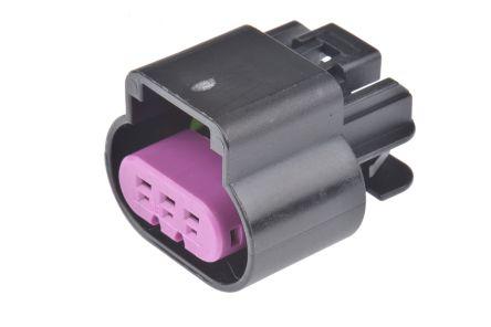 Delphi , GT 150 Automotive Connector Socket 2 Row 3 Way, Crimp Termination, Black (10)
