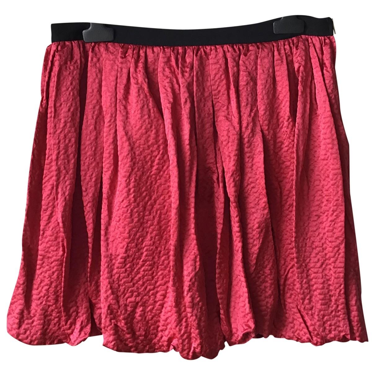 Sandro \N Pink Silk skirt for Women 40 FR
