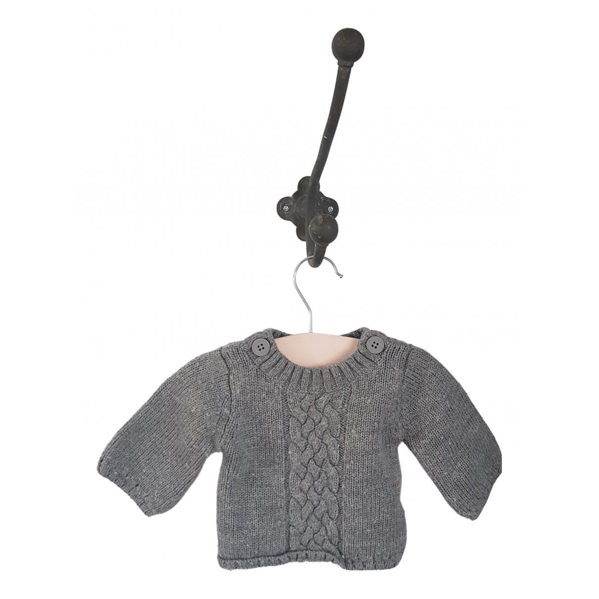 Petit Bateau \N Grey Wool Knitwear for Kids 6 months - up to 67cm FR