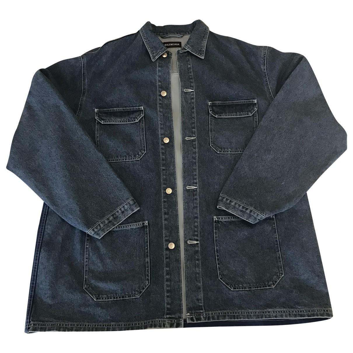 Balenciaga N Blue Cotton coat  for Men 48 FR