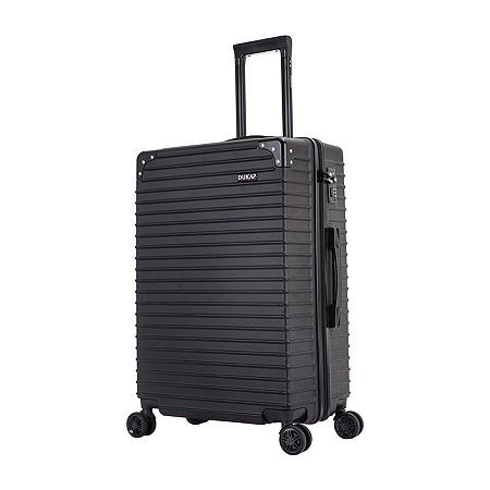 Dukap Tour 24 Inch Hardside Lightweight Luggage, One Size , Black