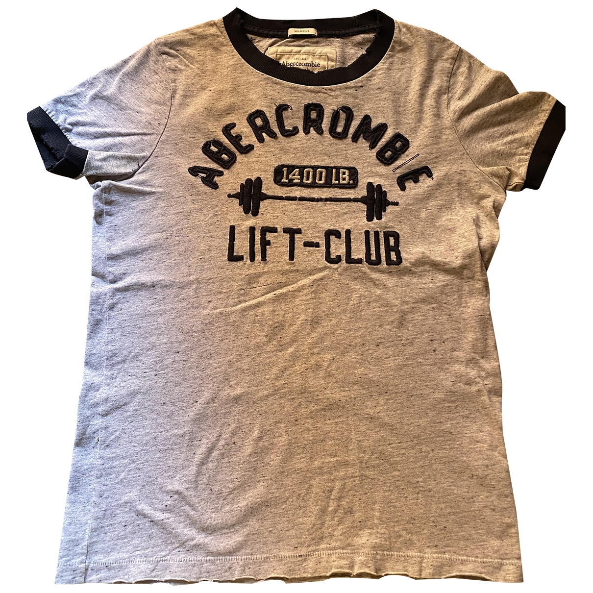 Abercrombie & Fitch \N Grey Cotton T-shirts for Men S International