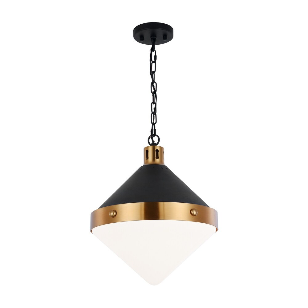 o  C72203AGOP Three Light Pendant Sphericon  Black  Gold Brass - One Size (One Size - Clear)