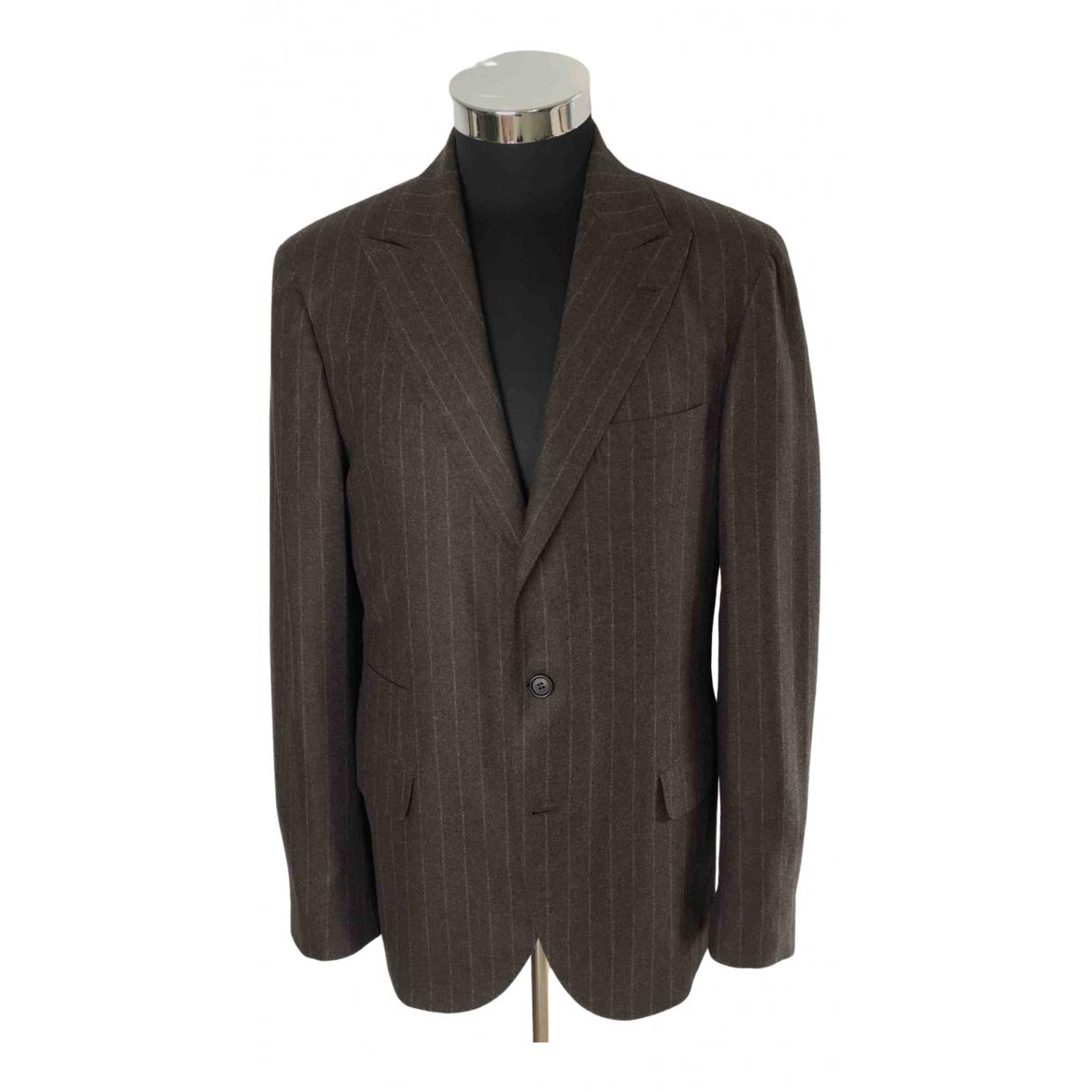 Brunello Cucinelli \N Anzuege in  Braun Wolle