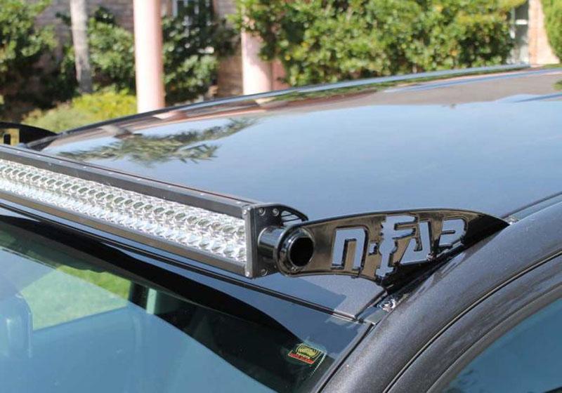 N-Fab C8850LR LED Light Roof Mounts Gloss Black Chevrolet 1500 88-98