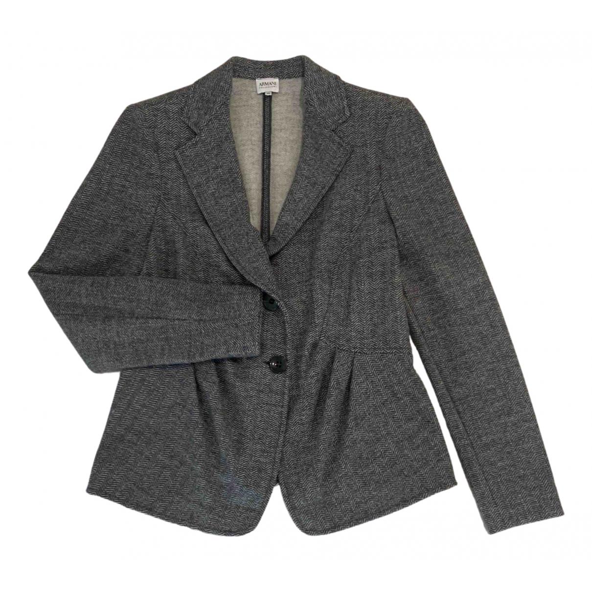 Armani Collezioni - Veste   pour femme en laine - bleu