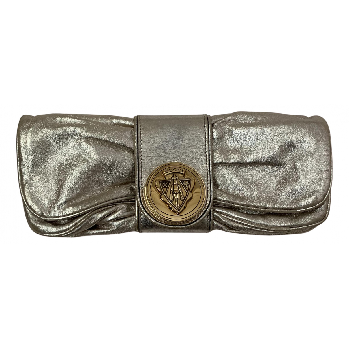 Gucci \N Clutch in  Silber Leder
