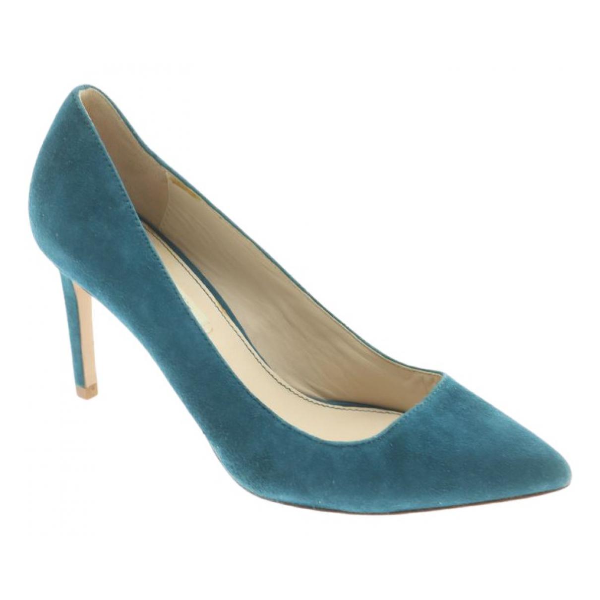 Uterque - Escarpins   pour femme en suede - bleu