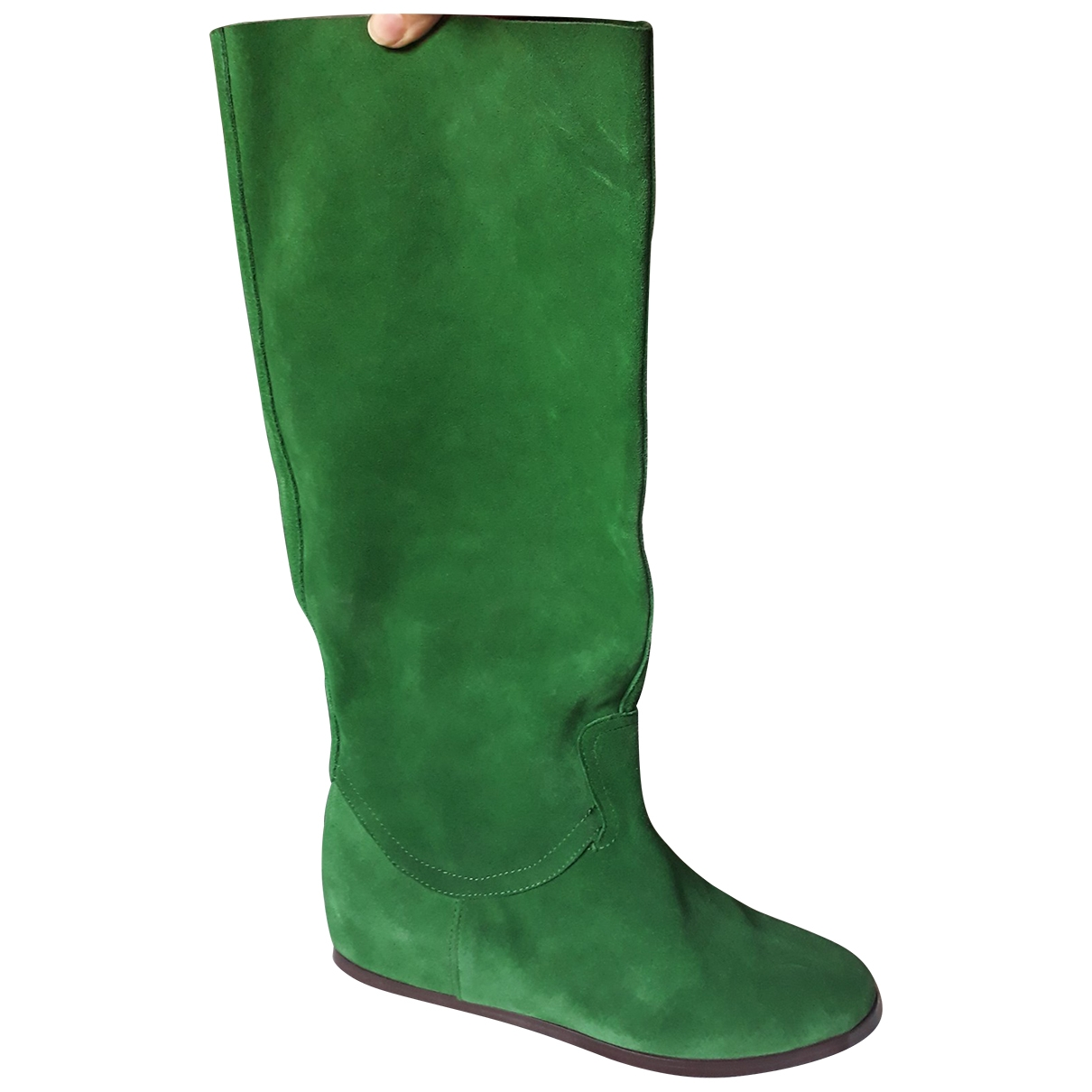 Casadei - Bottes   pour femme en cuir - vert