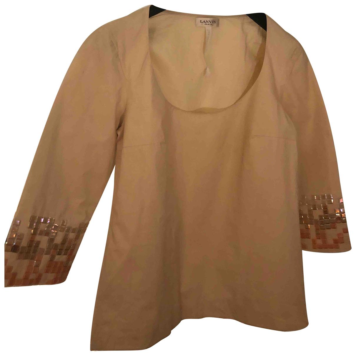 Lanvin - Top   pour femme en coton - ecru