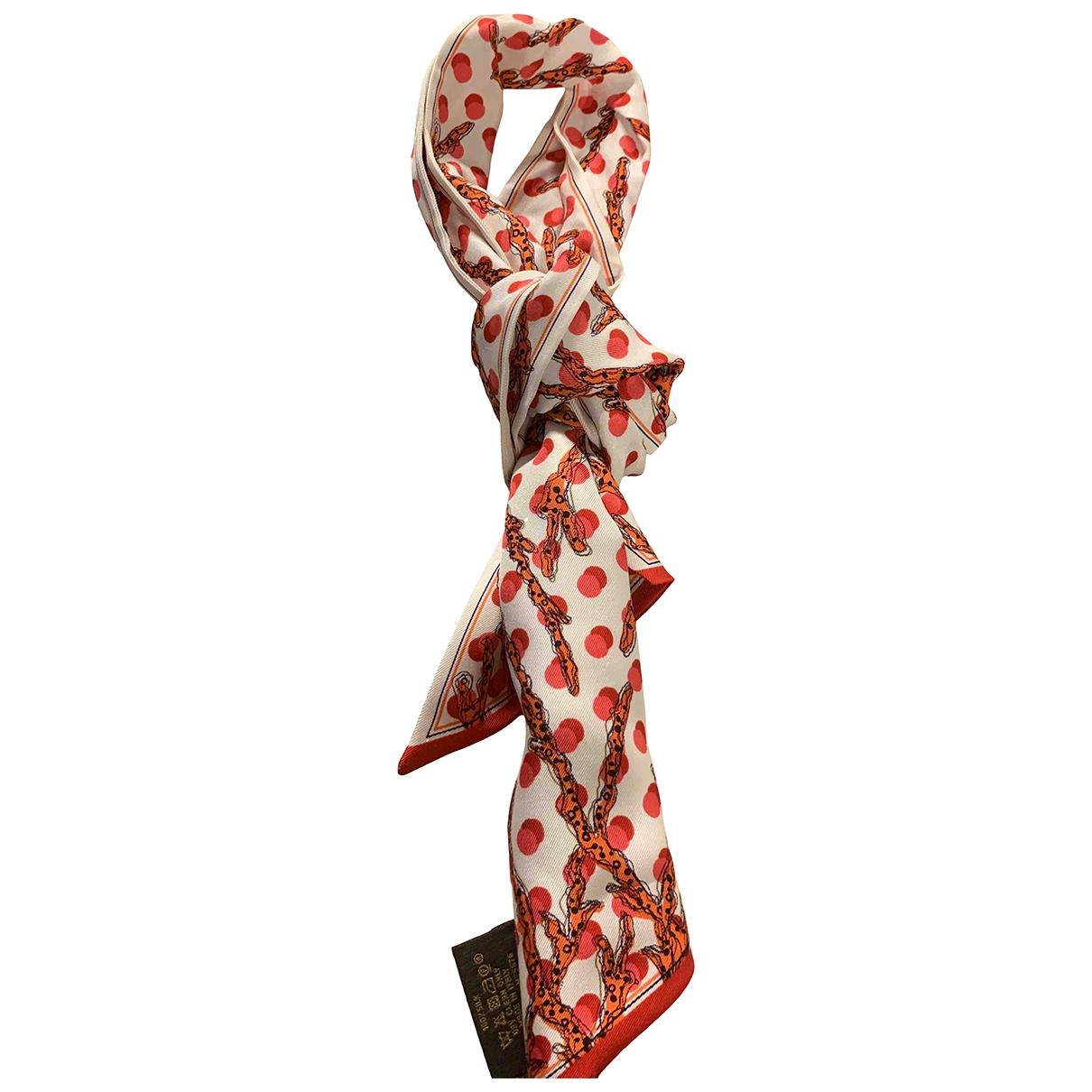 Louis Vuitton - Foulard   pour femme en soie - rouge