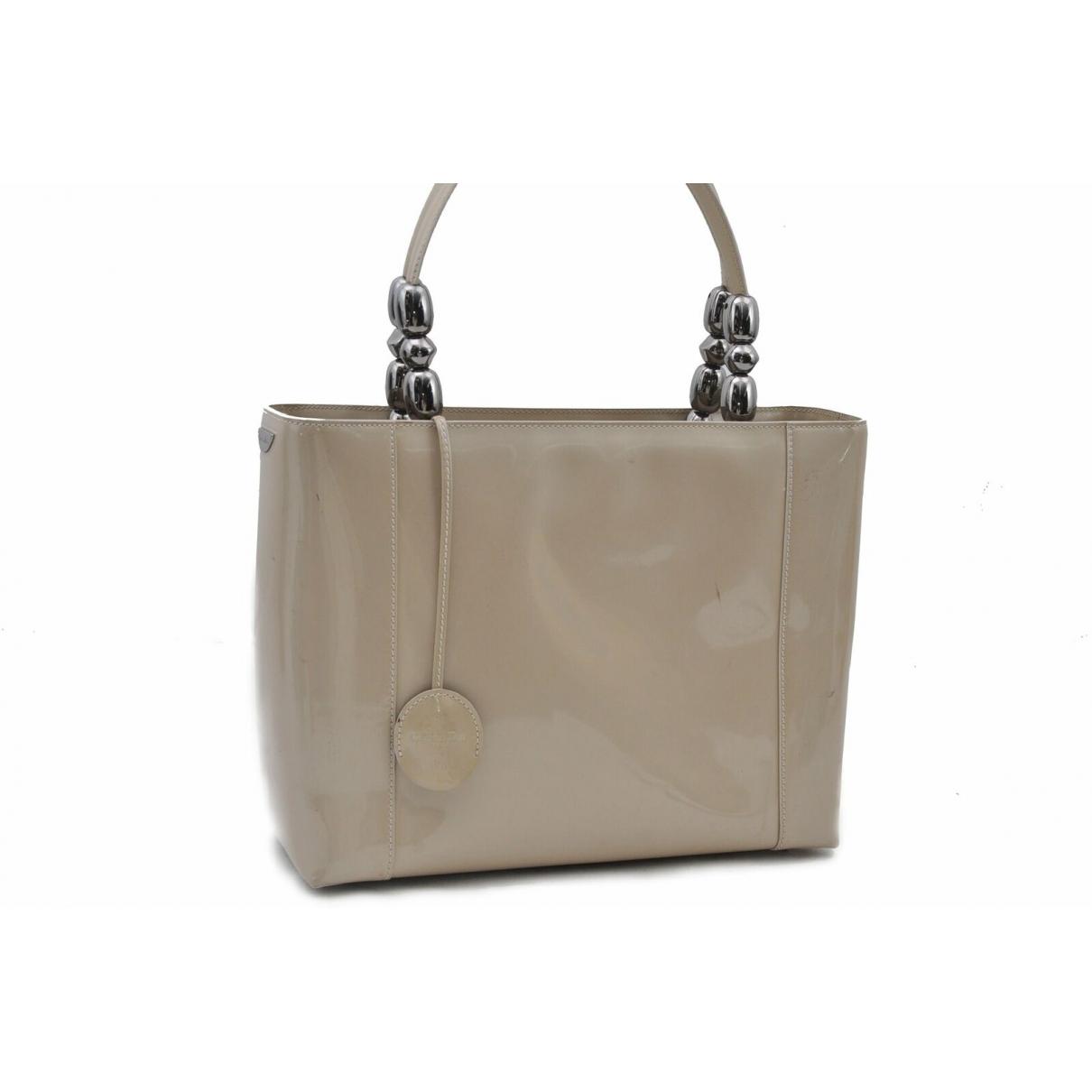 Dior \N Beige Patent leather handbag for Women \N