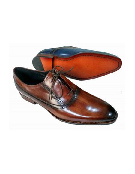 Mens Lace Up Leather Upper & Lining Brown Shoe
