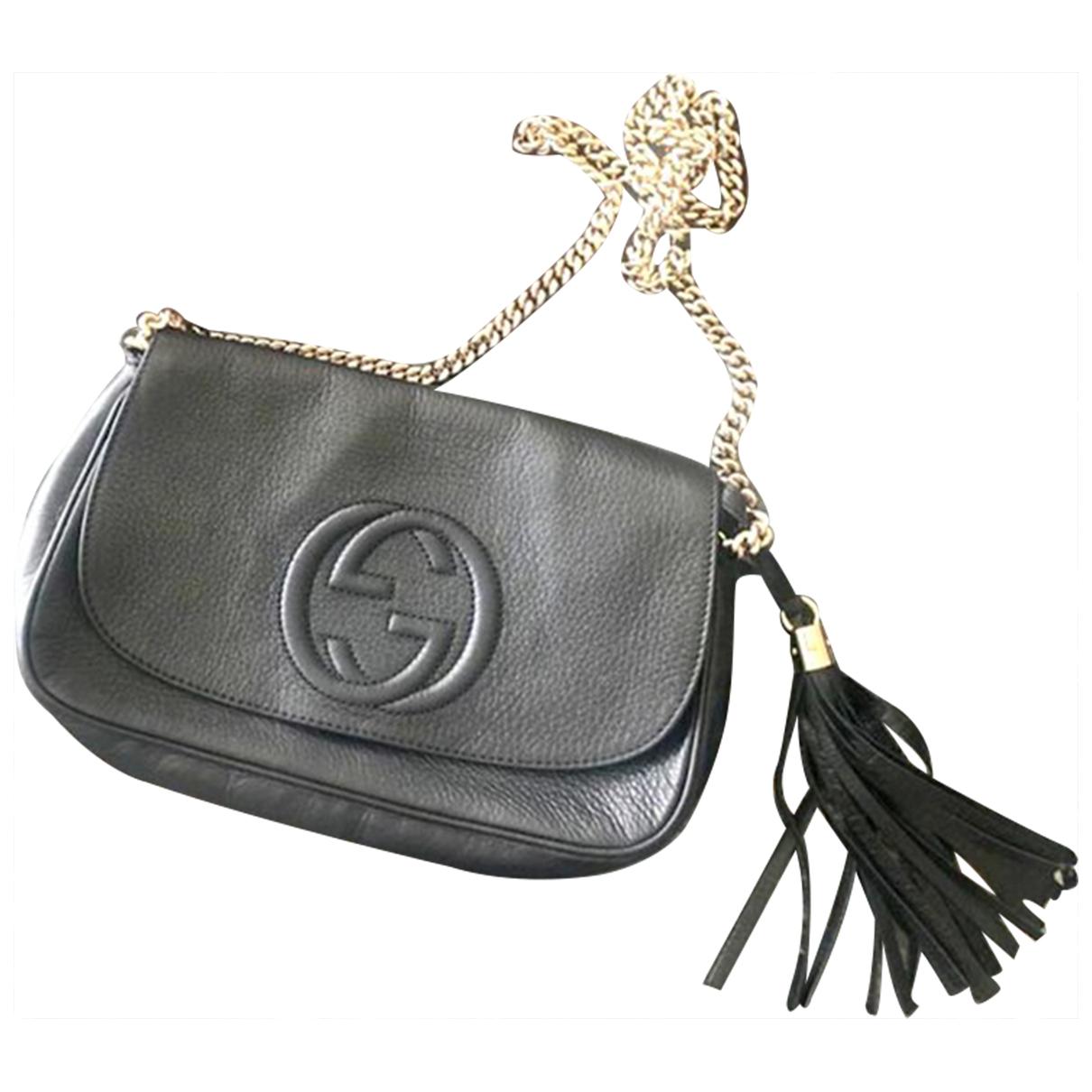 Gucci Soho Black Leather handbag for Women N
