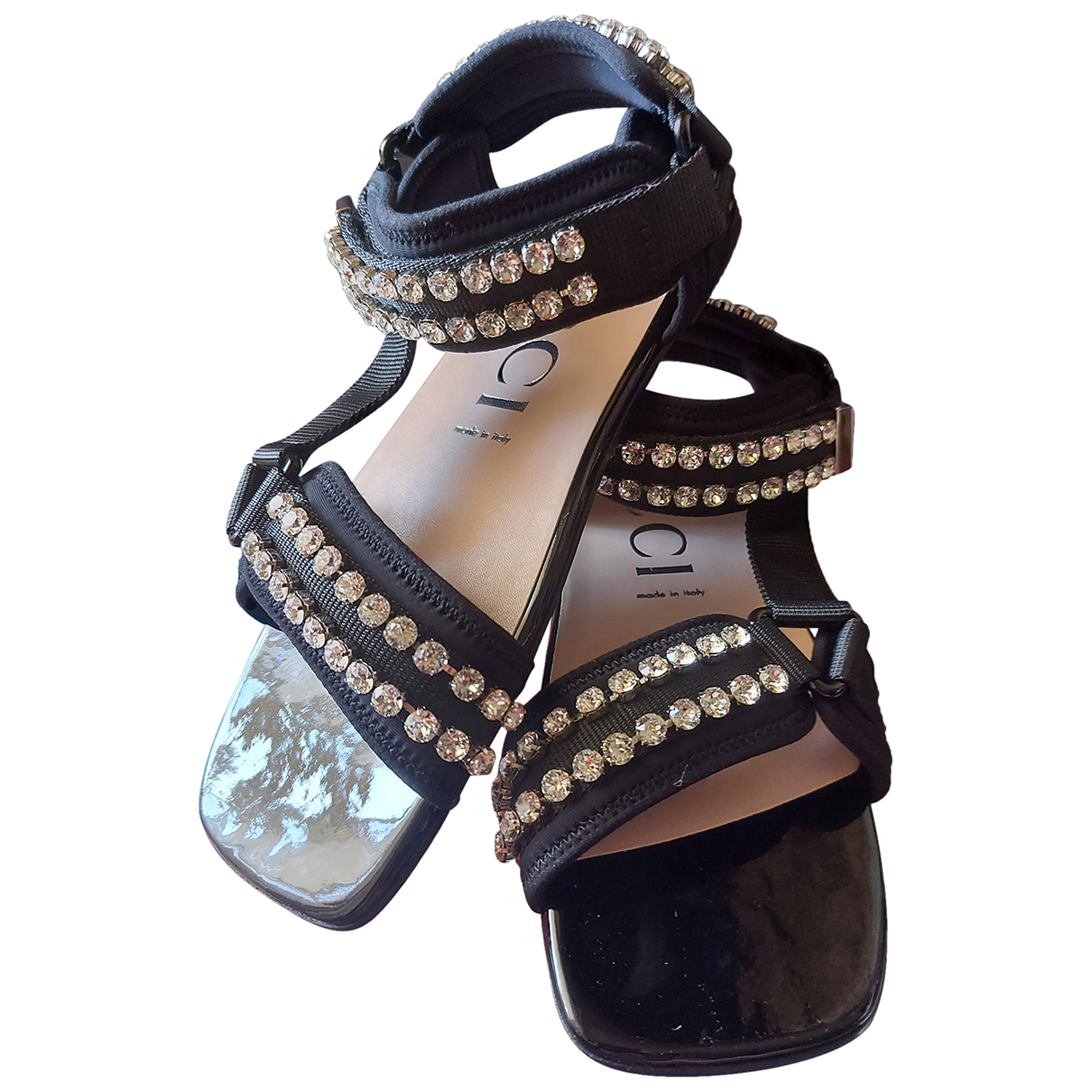 Gucci \N Black Cloth Sandals for Women 39 EU