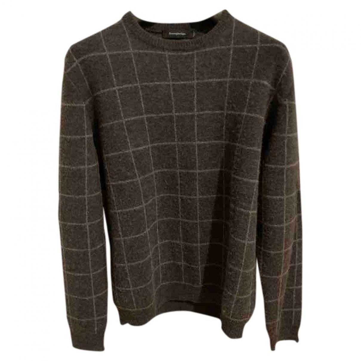 Ermenegildo Zegna \N Pullover.Westen.Sweatshirts  in  Braun Wolle