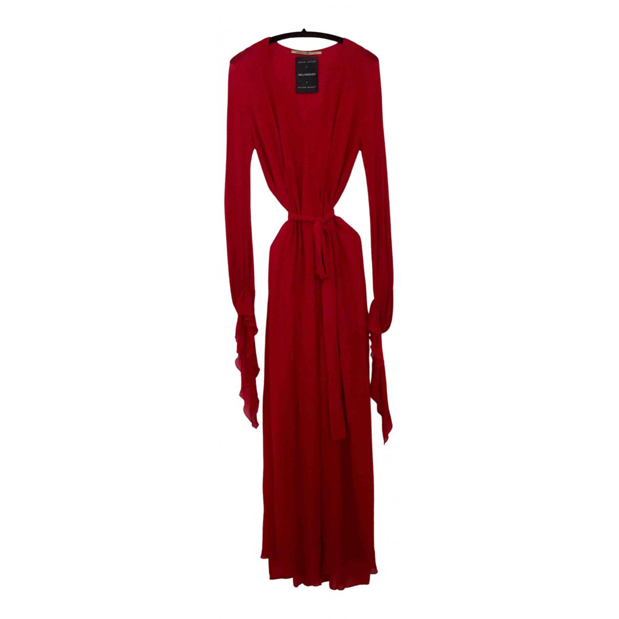 Roland Mouret \N Kleid in  Rot Seide