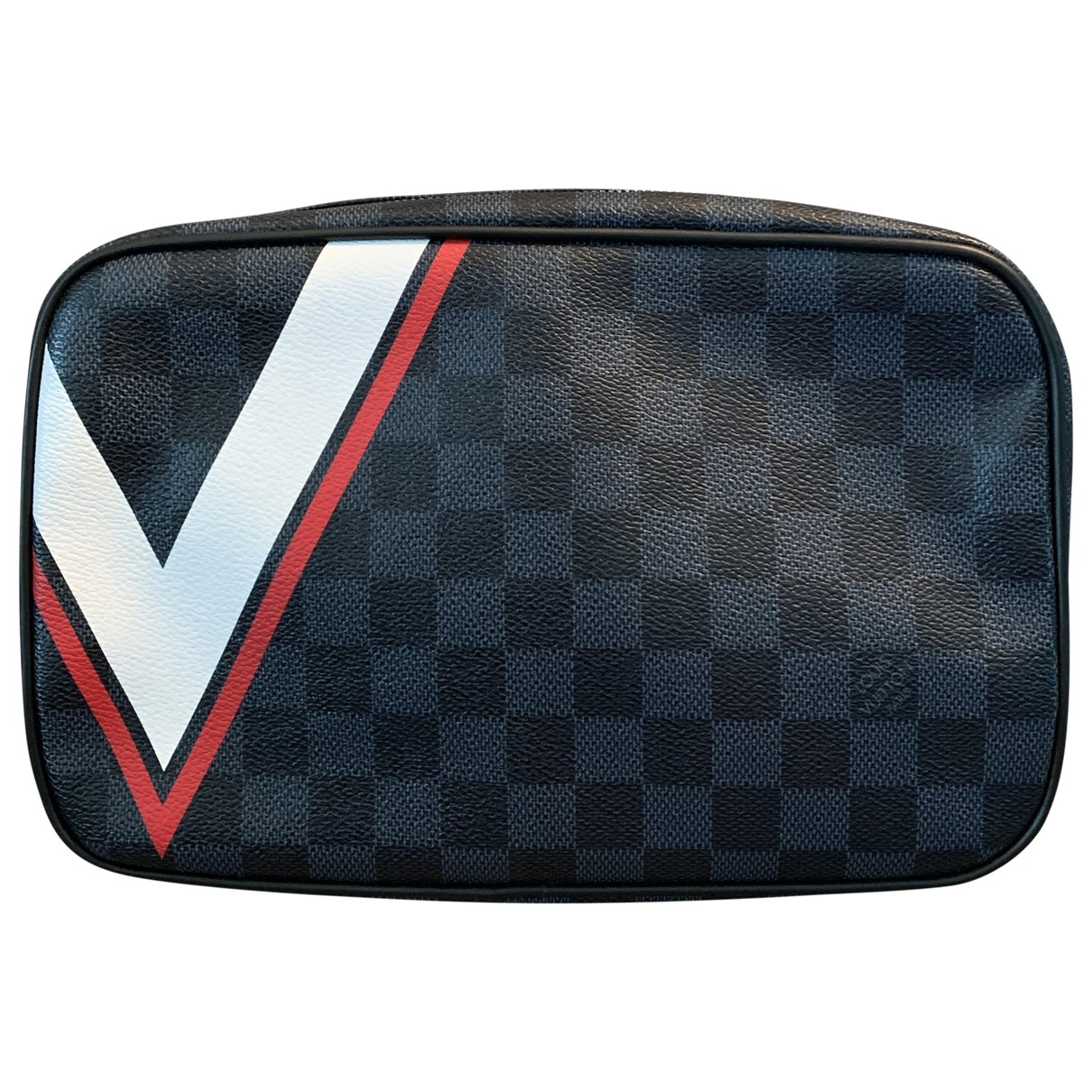 Louis Vuitton \N Navy Cloth Small bag, wallet & cases for Men \N