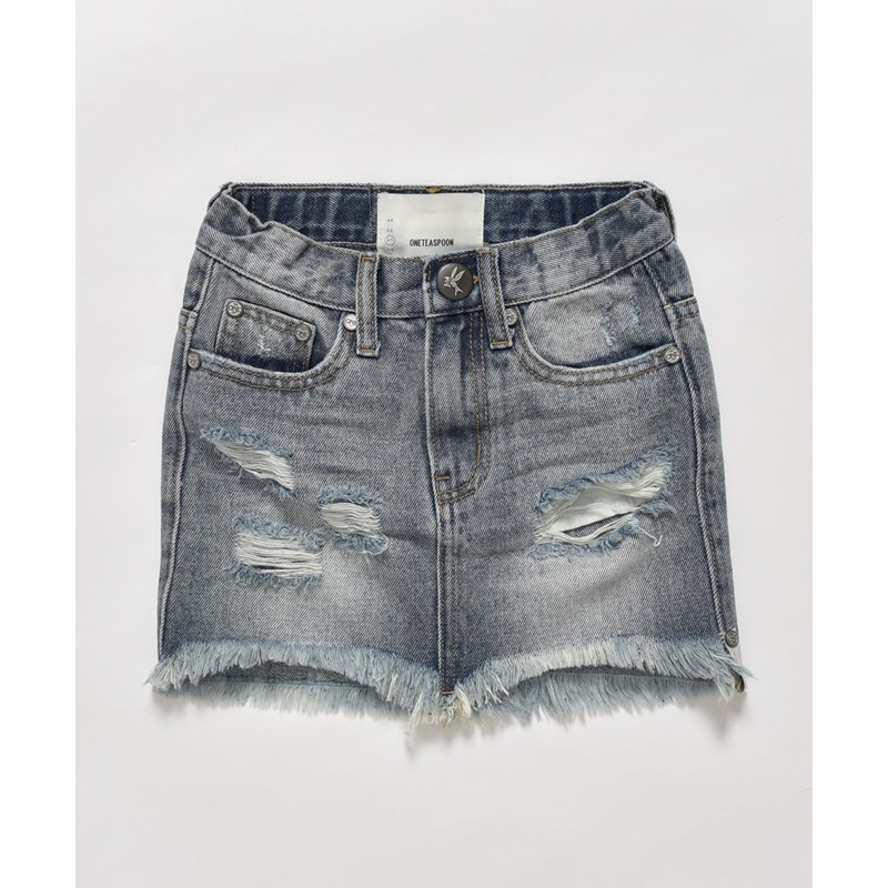 KIDS STORM BUOY 2020 HIGH WAIST DENIM SKIRT