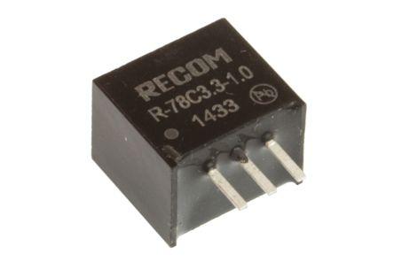Recom Through Hole Switching Regulator, 3.3V dc Output Voltage, 7 → 42V dc Input Voltage, 1A Output Current
