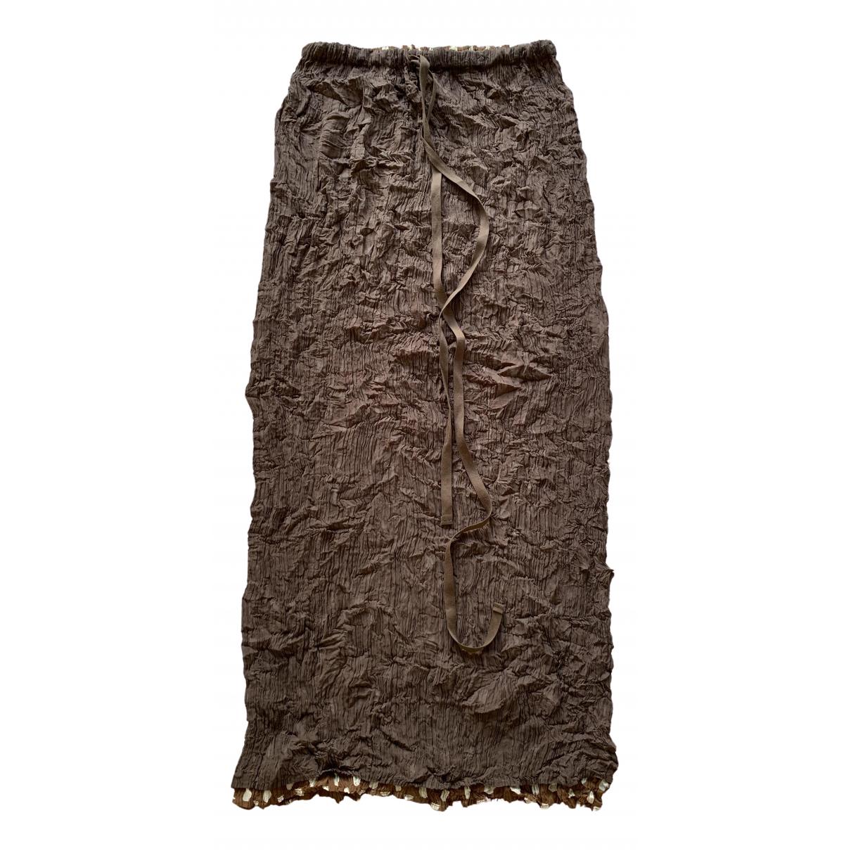 Issey Miyake \N Rocke in  Braun Polyester