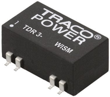 TRACOPOWER TDR 3WISM 3W Isolated DC-DC Converter Surface Mount, Voltage in 4.5 → 18 V dc, Voltage out 5V dc