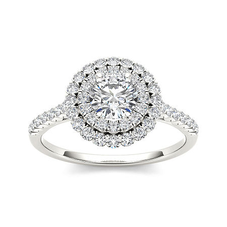 1 CT. T.W. Diamond 14K White Gold Engagement Ring, 7 1/2 , No Color Family