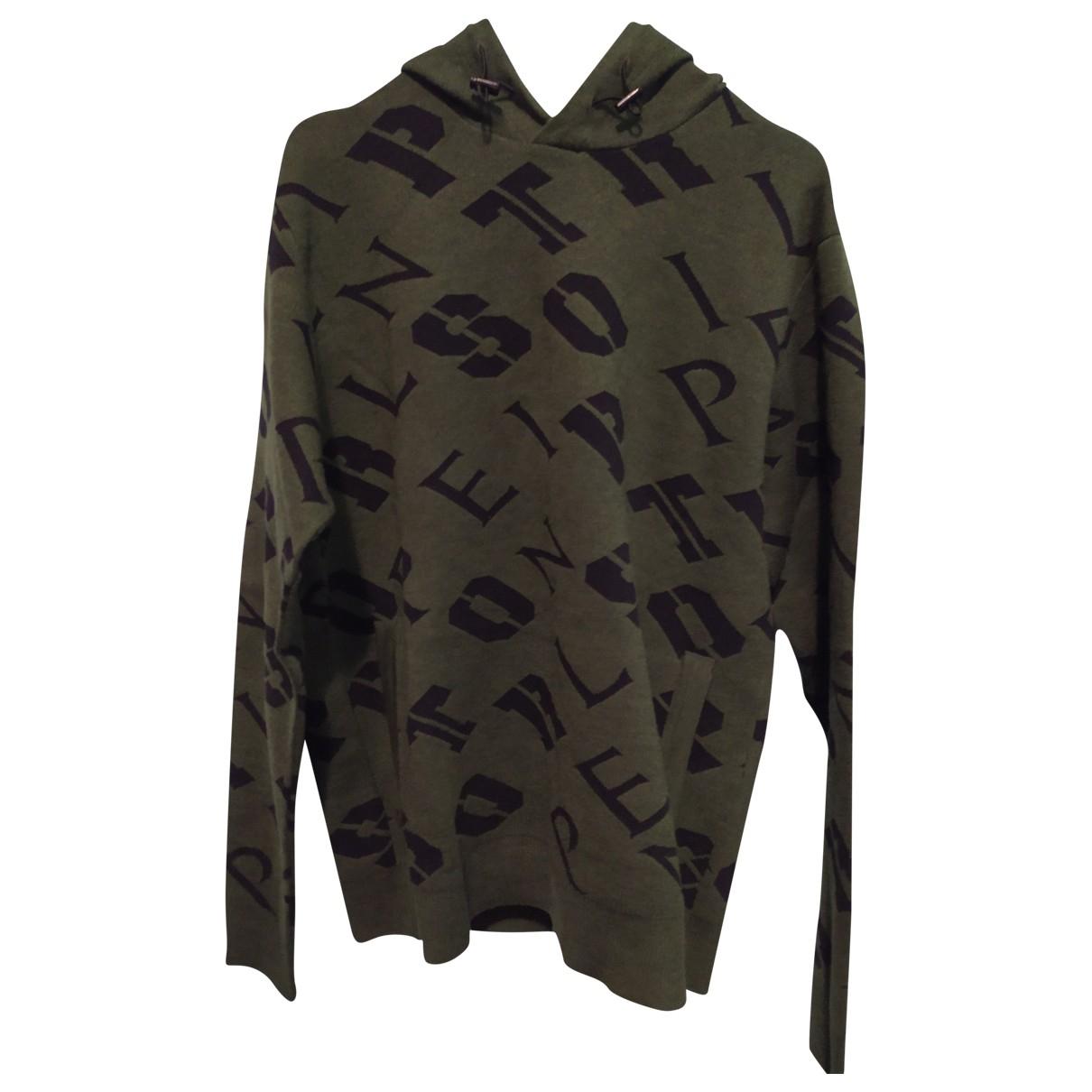 Philipp Plein \N Pullover.Westen.Sweatshirts  in  Gruen Synthetik