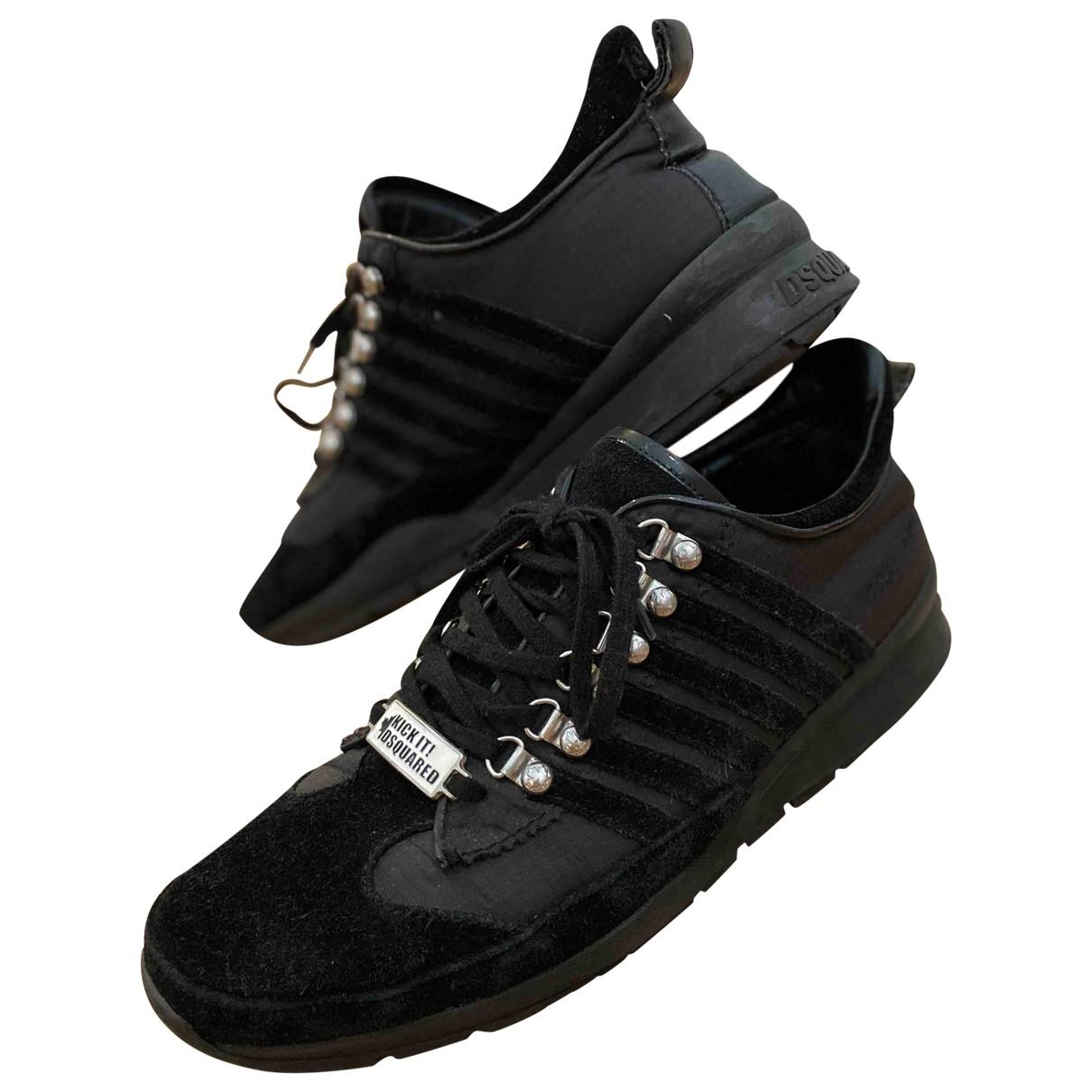 Dsquared2 - Baskets New Runner pour homme en cuir - noir